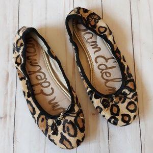 ❤ Sam Edelman Leopard Flats